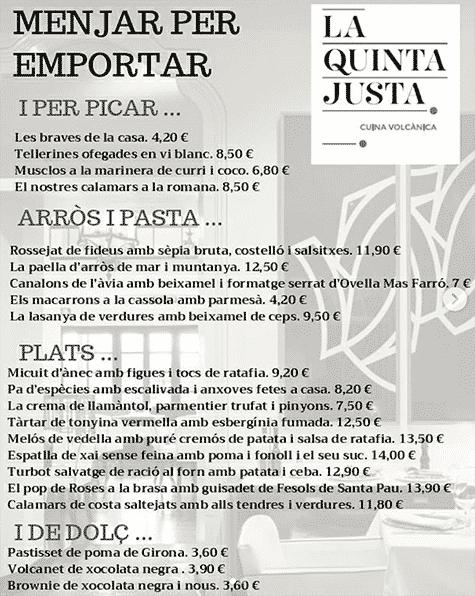 Restaurant la quinta justa olot